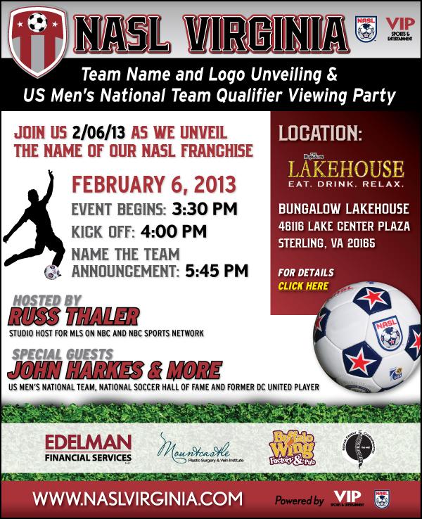 NASL Virginia Team Name & Logo Unveiling…